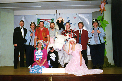 The cast of the Christmas panto - Jack and the beanstalk