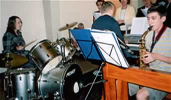 The Youth Band playing at our Easter Sunday Mass
