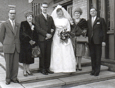 Tony and Kathleen with their parents