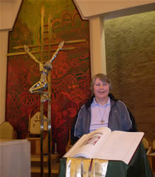 Angela Griffiths after Mass at Rite of Election
