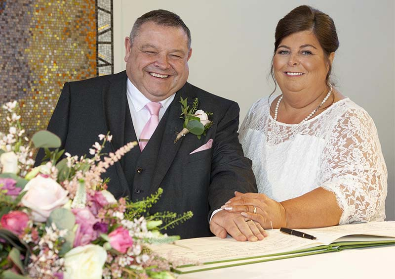 The new Mr and Mrs James