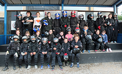 St. Andrew's youth clubs visit to go karting track