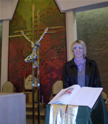 Pam Robson after Mass at Rite of Election