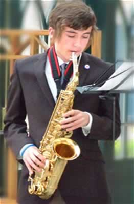 St. Andrew's Youth Band Saxophonist