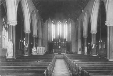 Interior of St. Mary's RC Church, Grangetown